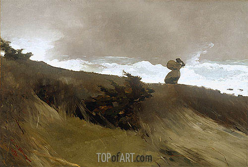 The West Wind, The West W | Winslow Homer | Gemälde Reproduktion