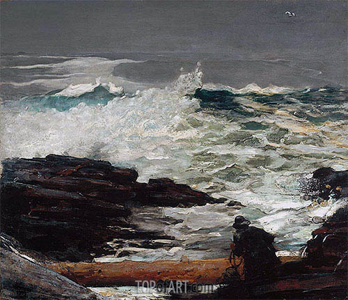Driftwood, 1909 | Winslow Homer| Painting Reproduction