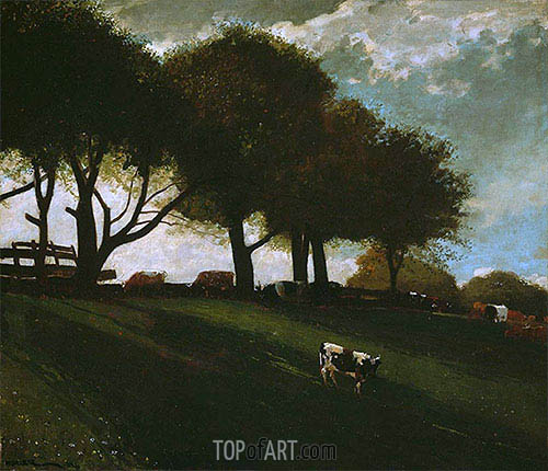 Twilight at Leeds, New York, 1876 | Winslow Homer | Gemälde Reproduktion