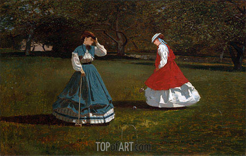 A Game of Croquet, 1866 | Winslow Homer| Painting Reproduction