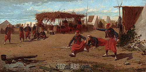 Pitching Quoits, 1865 | Winslow Homer| Painting Reproduction