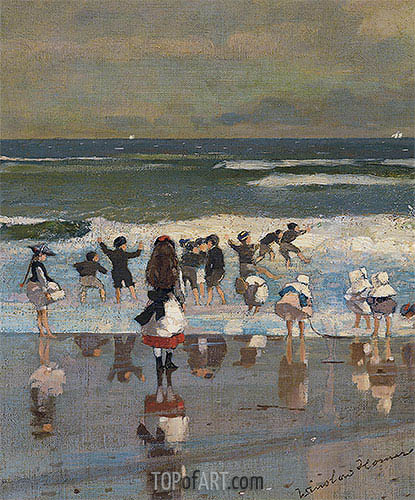 Beach Scene, c.1869 | Winslow Homer | Painting Reproduction