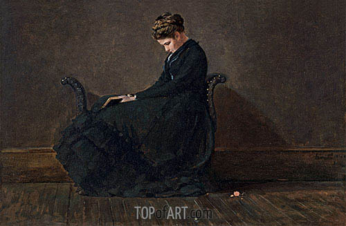 Portrait of Helena de Kay, c.1872 | Winslow Homer| Painting Reproduction
