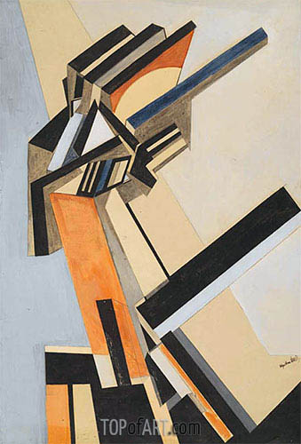 Portrait of an Englishwoman, c.1913/14 | Wyndham Lewis | Painting Reproduction