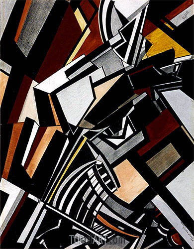 Composition, 1913 | Wyndham Lewis | Painting Reproduction