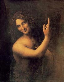 St John the Baptist | Leonardo da Vinci | Painting Reproduction