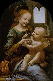 Benois Madonna, c.1478 by Leonardo da Vinci | Painting Reproduction