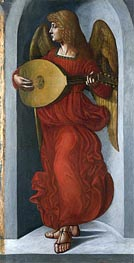 An Angel in Red with a Lute, c.1490/99 by Leonardo da Vinci | Painting Reproduction