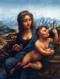 Madonna of the Yarnwinder | Leonardo da Vinci | Painting Reproduction
