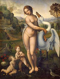 Leda and the Swan, a.1510/15 by Leonardo da Vinci | Painting Reproduction