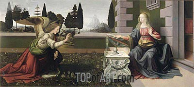 The Annunciation, c.1472/75 | Leonardo da Vinci| Painting Reproduction