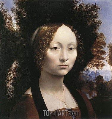 Leonardo da Vinci | Portrait of Ginevra de' Benci, c.1474/78