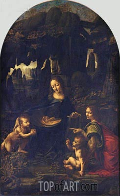 The Virgin of the Rocks, c.1483/86 | Leonardo da Vinci| Gemälde Reproduktion