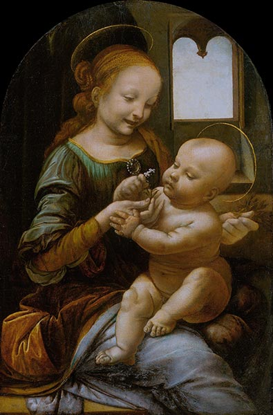 Benois Madonna, c.1478 | Leonardo da Vinci | Painting Reproduction