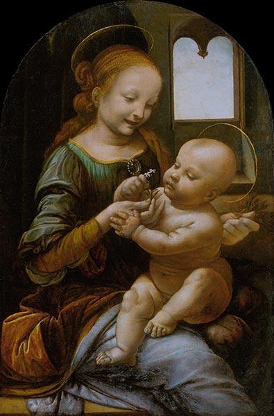 Benois Madonna, c.1478 | Leonardo da Vinci | Gemälde Reproduktion