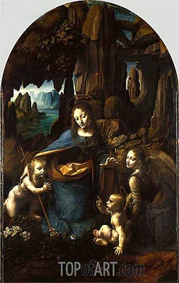 The Virgin of the Rocks, c.1491/150 | Leonardo da Vinci | Painting Reproduction