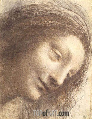 Leonardo da Vinci | Head of the Virgin, c.1508/12