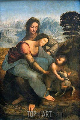 Virgin and Child with St. Anne, c.1502/13 | Leonardo da Vinci| Painting Reproduction