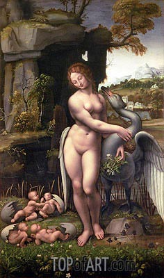 Leonardo da Vinci | Leda and the Swan, c.1505/15