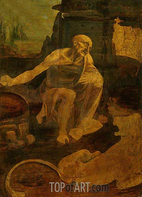 Saint Jerome in the Wilderness, c.1480 | Leonardo da Vinci | Painting Reproduction