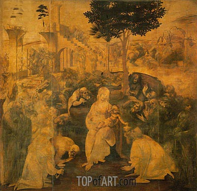 Adoration of the Magi, 1481 | Leonardo da Vinci| Painting Reproduction