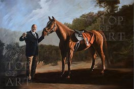 Pie-O-My (Tony Soprano with Horse), Undated by Custom Paintings | Painting Reproduction
