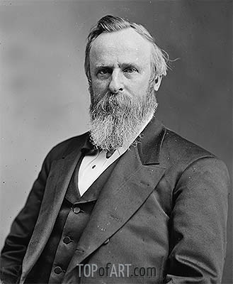 Portrait of Rutherford B. Hayes, undated | Custom Paintings | Painting Reproduction