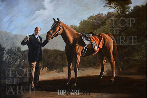 Pie-O-My (Tony Soprano with Horse),  | Custom Paintings | Gemälde Reproduktion