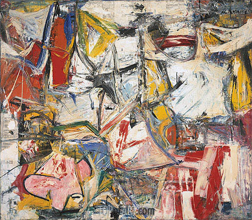 Custom Paintings | Gotham News (de Kooning), 1955