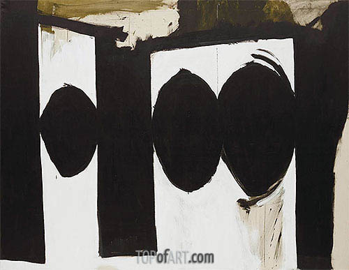 Elegy to the Spanish Republic, 54 (Robert Motherwell), c.1957/61 | Custom Paintings | Gemälde Reproduktion
