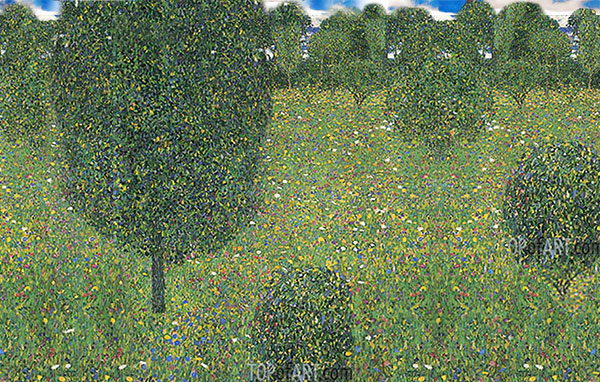 Custom Paintings | Meadow in Flowers (Inspired by Klimt), undated