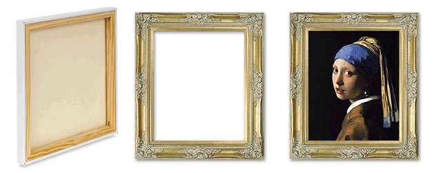 Framing of Oil Paintings on Canvas without using of Liner