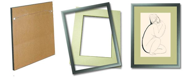 framing of artworks on paper drawings aquarelles graphics pastels