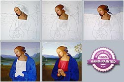Process of Painting Step by Step in Images with Oil on Canvas