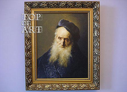 "framed painting ""A Tronie of an Old Man"" by Jan Lievens"