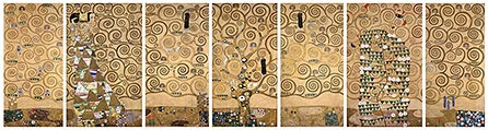 Klimt sketches for mural frieze in Stoclet House in Vienna