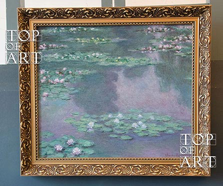 Framed painting Water Lilies I by Monet