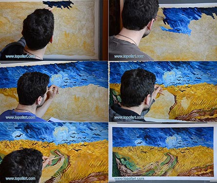Wheat Field with Crows by van Gogh - Painting Reproduction