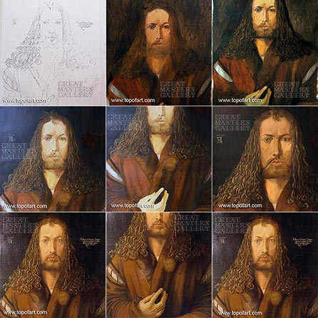 Durer Self Portrait at 28 - Painting Reproduction