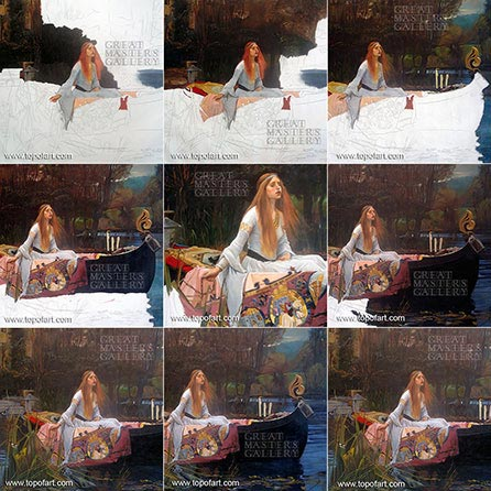 The Lady of Shalott by Waterhouse - Painting Reproduction