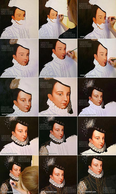 Portrait of Francois Hercule de France by Francois Clouet - Painting Reproduction