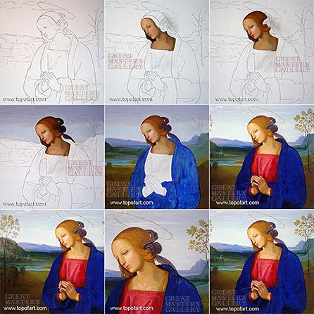 The Virgin by Perugino - Painting Reproduction