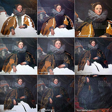Marchesa Balbi by van Dyck - Painting Reproduction