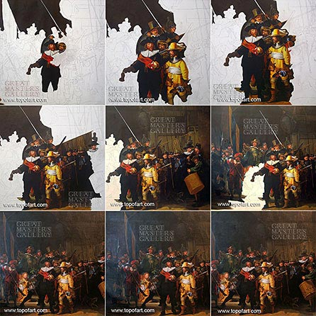 The Night Watch by Rembrandt - Painting Reproduction