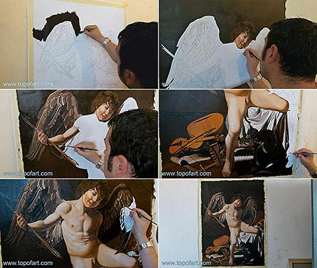 Amor Victorious by Caravaggio - Painting Reproduction