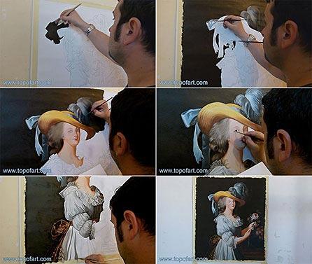 Marie-Antoinette en Chemise by Vigee Le Brun - Painting Reproduction