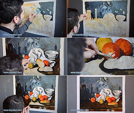 Still Life with Fruit by Cezanne - Painting Reproduction