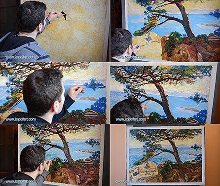 Le Pin de la Fossette by Rysselberghe - Painting Reproduction