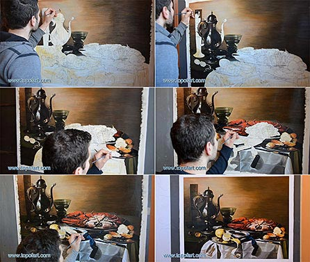 Still Life with Lobster - Painting Reproduction