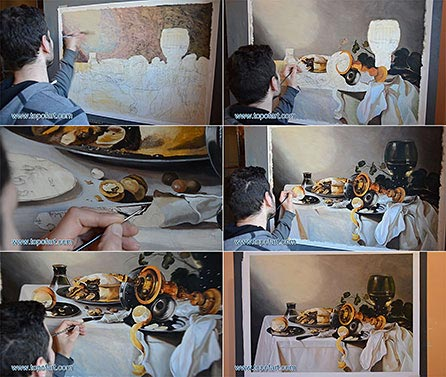 Banquet Piece with Pie, Tazza and Gilded Cup - Painting Reproduction